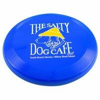 """This professional style 110 gram flyer is perfect for the beach or park. FDA compliant - Safe for food contact. Child-safe.  Complies with CPSIA, FDA.  9 5/8"""" Diameter x 1 1/4"""" D"""