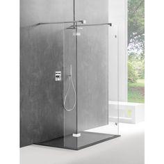 Sealskin Optix 700 Inloopdouche type E1 120x200cm Chroom-zilver hoogglans/Helder glas (antikalk)