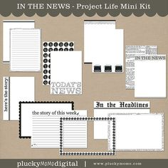 IN THE NEWS Mini Kit for Project Life. $5 via Plucky Momo.