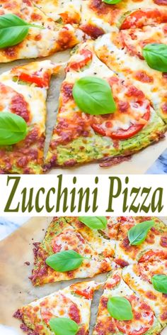 Zucchini Pizza Crust Recipe - Cooking LSL Zucchini Pizza Crust Recipe – low-calorie pizza, made with zucchini crust, topped with fresh tomatoes and cheese. Low-Carb, Keto Zucchini Pizza Crust Option available. Low Calorie Pizza, Calories Pizza, No Calorie Foods, Low Calorie Cheese, Low Calorie Snacks, Diet Foods, Low Carb Dinner Recipes, Low Calorie Recipes, Keto Recipes