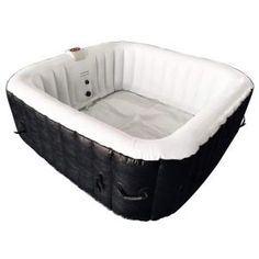 Find deep relaxation in your own backyard oasis with ALEKO's square inflatable hot tub. This spa provides all of the mental and physical health benefits of a traditional hot tub with a more convenient Drinks Tray, Deep Relaxation, Space Place, Whirlpool Bathtub, Sit Back And Relax, Living Spaces, Price Point, Health Benefits, Walks
