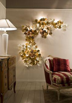 Vine leaves wall light #lighting #vines #leaves #interiordesign