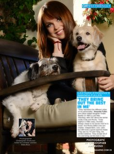 This week in my OK! Pets page in OK! magazine Amanda Fuller star of Last Man Standing and her two dogs. Pick up a copy today.