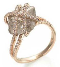 Elegant: Wedding Ring, Diamonds, Uncut Diamond, Raw Diamond, Rough Diamond, Rings, Jewelry, Engagement Ring