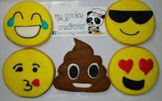 Pedido enviado por correo la semana pasada! #emojis #emojicookies #emojisbirthday #cookies #mycookiecreations
