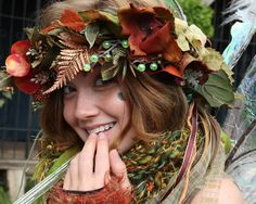 Another pinner wrote, but I agree! - It's Twig! I've met her, and she is gorgeous! Mummers Parade, Bristol Renaissance Faire, Fairy Crown, Forest Color, She Is Gorgeous, Its A Wonderful Life, Costume Makeup, Up Styles, City Photo
