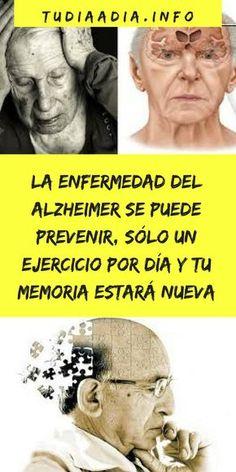 La enfermedad del Alzheimer se puede prevenir, sólo un ejercicio por día y tu memoria estará nueva   tudiaadia.info Health And Wellness, Mental Health, Health Fitness, Lupus Awareness, Detox Recipes, Natural Medicine, Diet Tips, Healthy Tips, Home Remedies
