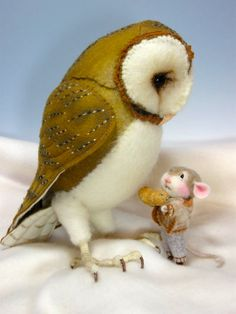 PDF CLASS Needle Felted Animal Dressed Mouse & Bunny by barby303, $45.00