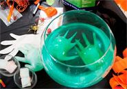 Halloween punch bowl with green floating hands Halloween Punch Bowl, Happy Halloween, Halloween Party, Diy Party, Party Ideas, Helium Tank, Punch Bowls, Balloons, Hands