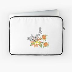 'Floral art' Laptop Sleeve by Laptop Sleeves, Pattern Design, Floral Design, Printed, Awesome, Stuff To Buy, Bags, Shopping, Beautiful