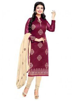 Casual Wear Purple Salwar Suit - FD170-184