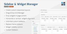 Download Sidebar & Widget Manager  WordPress Plugin Version.3.2 - http://wordpressthemes.me/download-sidebar-widget-manager-wordpress-plugin-version-3-2/