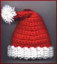 New born Santa hat