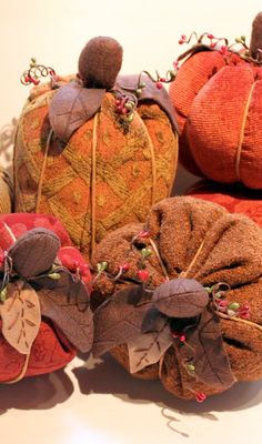 Learn how to make these adorable DIY Fall Fabric Pumpkins with a great tutorial by Lindsay Wilkes from The Cottage Mama. www.thecottagemama.com