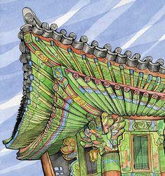 Urban Sketchers: My Favorite Temple