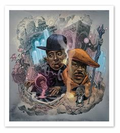 Gang Starr by Dan Lish Artworks