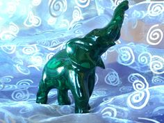 Malachite Elephant for Ancient Wisdom, Transformation and Prosperity! by shspirithouse on Etsy