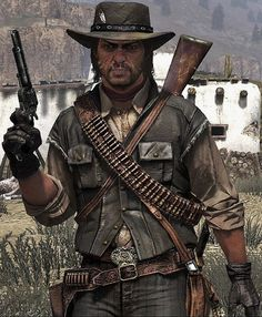 John Marston exploring the Mexico area in RDR