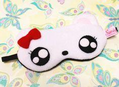 Kawaii Sleeping Eye Mask Mimi the Hamster Foam Crafts, Fabric Crafts, Cute Sleep Mask, Honeymoon Gifts, Baby Girl Toys, Cute Eyes, Animal Masks, Holidays With Kids, Slumber Parties