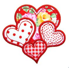 Valentine Applique Heart Applique Valentine by GardenofDaisies Christmas Quilt Patterns, Christmas Embroidery Patterns, Embroidery Hearts, Machine Embroidery Applique, Free Machine Embroidery Designs, Applique Designs, Machine Quilting, Quilt Square Patterns, Patchwork Quilt Patterns