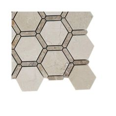 Splashback Tile Ambrosia Crema Marfil and Light Emperador Stone Mosaic Floor and Wall Tile - 6 in. x 6 in. Floor and Wall Tile Sample-L2A1 STONE TILE - The Home Depot