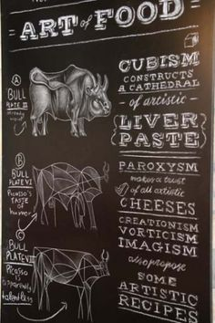 Meat on the Blackboard    Chalk and white pencil paintings for Blue Lagoon Village hotel's grill house. Illustration by Sotiris Gritzalis, art direction by sereal designers.