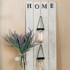 DIY Farmhouse Lanterns for Wall Decor. It's ❤️ at first💡light with these farmhouse lanterns. Easy Home Decor, Diy Home Crafts, Decor Crafts, Diy Home Décor, Home Craft Ideas, Diy Decorations For Home, Diy Home Decor Projects, Handmade Home Decor, Easy Diy Projects