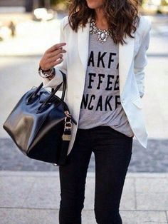 love the casual t-shirt...I have the blazer