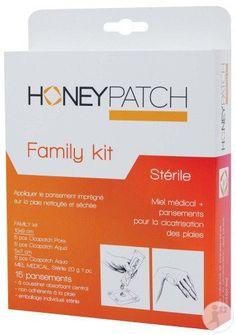 Honeypatch Family Kit 15 Pansements Stérile + Tube Avec Miel Médical 20g Kit, Nursing, Pharmacy, Breast Feeding, Nurses