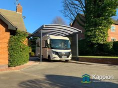 Built-to-last carports and canopies, manufactured from steel with stunning looks. Carport Canopy, Canopies, Cover Photos, Motorhome, Recreational Vehicles, Contemporary, Building, Beautiful, Rv