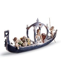 LLADRO PORCELAIN FOR VALENTINE'S DAY § LLADRO - GONDOLA OF LOVE Issue Year: 2002 Sculptor: Juan Ignacio Aliena
