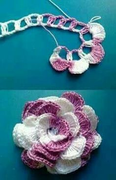 Crochet flower photo
