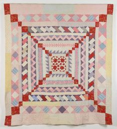 Cockermouth Frame Quilt, 1890 to 1900 Old Quilts, Antique Quilts, Small Quilts, Vintage Quilts, Medallion Quilt, American Quilt, Textiles, Quilt Bedding, Quilting Designs