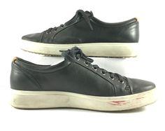 Ecco Black Leather Fashion Sneaker Mens Size EUR 42M   eBay