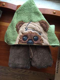 Star Wars ewok inspired hooded towel by SewCrazyFun on Etsy https://www.etsy.com/listing/260939973/star-wars-ewok-inspired-hooded-towel