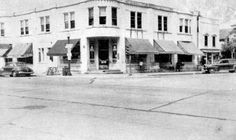 Deerfield, IL: The Antes building, the first pre-cast concrete building in Illinois was located on the NE corner of Deerfield and Waukegan Roads. From the Deerfield Area Historical Society's photo collection.