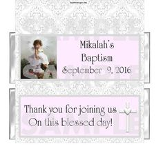 PERSONALIZED Baptism Christening Lace Angel Girl candy bar wrappers FREE FOILS