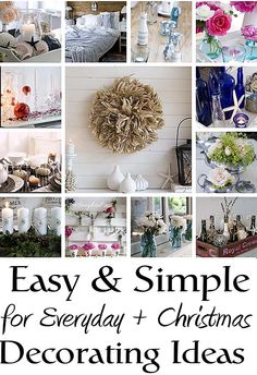 Easy and simple decorating ideas for everyday life and Christmas All Things Christmas, Winter Christmas, Christmas Holidays, Christmas Decorations, Xmas, Holiday Crafts, Holiday Fun, Holiday Decor, Shabby