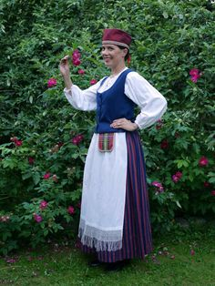 Folk Costume, Costumes, Folk Clothing, Fashion History, Finland, Apron, Culture, Embroidery, Female