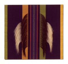 Danish tapestry weaver, piece done with cotton and horse tail hair.