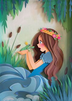 Paper Art Princess and Frog