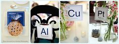 Chemistry wedding table cards