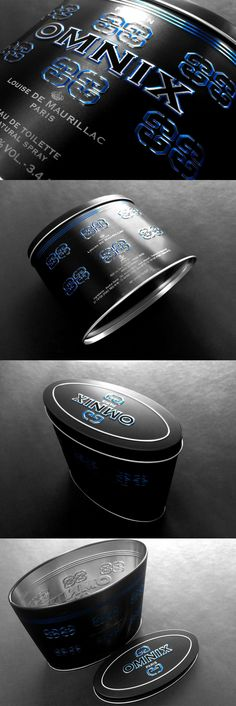 Omnix tin packaging designed by 2ii Inc