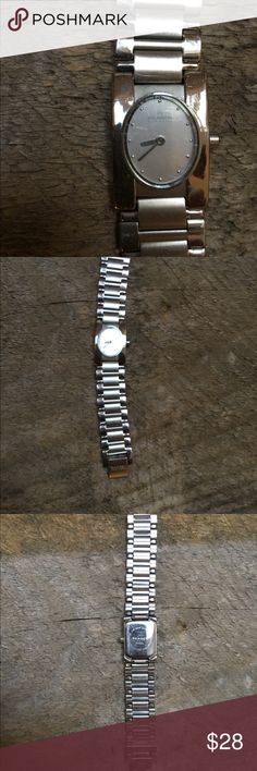 Skagen Silver Watch Skagen silver watch. Square face. Needs new battery  ALL SALES ARE FINAL. PLEASE ASK ANY QUESTIONS PRIOR TO PURCHASING Skagen Accessories Watches