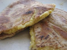 """Chickpea 'Cheese' Alternative (Pictured as a Quesadilla)"" -- Chickpea miso contains fermented rice. Recipe is soy-free! [gluten-free, dairy-free, vegan, vegetarian, nut-free]"