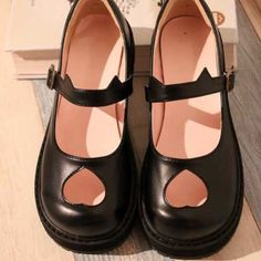 b781d0556 Devil   kitty ear heart cutout Mary Jane school shoes. Really cute but not  my