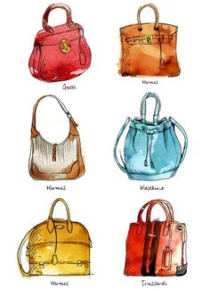 847 Fantastiche Immagini Su Bags Illustrations Illustrazioni Borse E Borsette Burberry