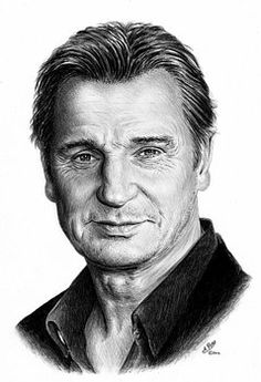 Liam Neeson graphite on white card. Liam Neeson graphite on white card. Liam Neeson graphite on white card. Liam Neeson, Celebrity Caricatures, Celebrity Drawings, Celebrity Portraits, Realistic Pencil Drawings, 3d Drawings, Horse Drawings, Drawing Art, Portrait Au Crayon