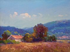 """""""Warm summers day Provence""""   18"""" x 24""""   Ovanes Berberian"""