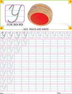 Cursive capital letter Y practice worksheet Handwriting Worksheets For Kids, Cursive Handwriting Practice, Cursive Writing Worksheets, Handwriting Analysis, Alphabet Worksheets, Alphabet Tracing, Kids Worksheets, English Cursive Writing, Cursive Chart